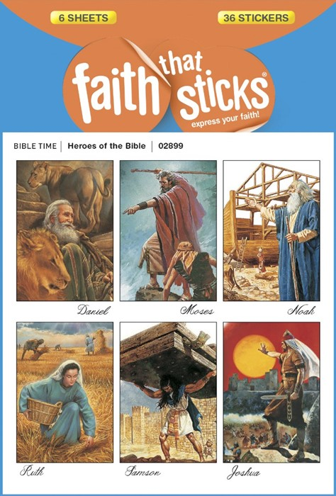 Heroes Of The Bible (Stickers)