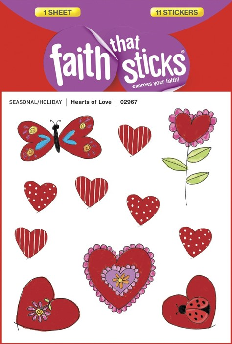 Hearts Of Love (Stickers)