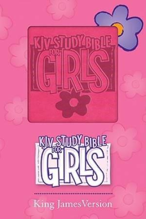 KJV Study Bible For Girls Pink Duravella (Leather Binding)