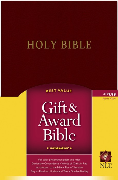 NLT Gift And Award Bible, Burgundy (Imitation Leather)