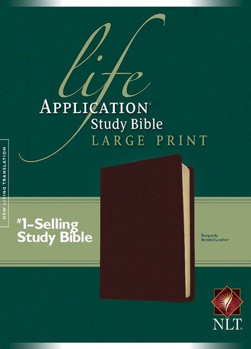 NLT Life Application Study Bible Large Print, Burgundy (Bonded Leather)