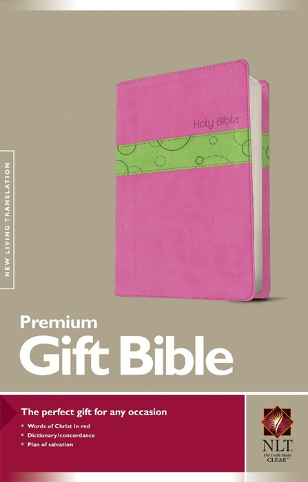 NLT Premium Gift Bible, Bubblegum/Pistachio (Imitation Leather)