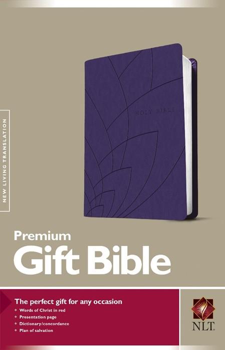 NLT Premium Gift Bible, Purple (Imitation Leather)