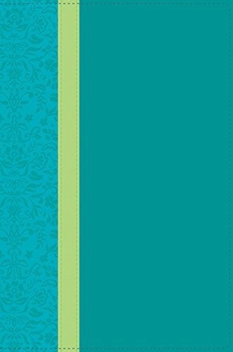 NLT Holy Bible Personal Size Large Print, Teal, Indexed (Imitation Leather)