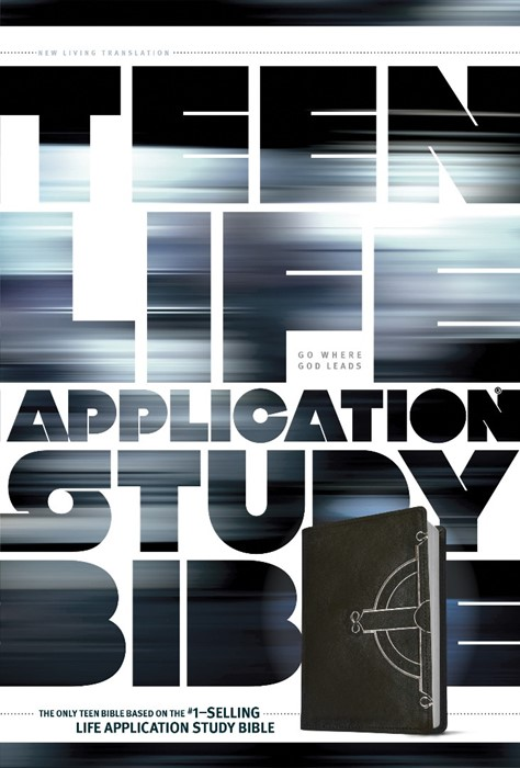 NLT Teen Life Application Study Bible Black Celtic Cross (Imitation Leather)