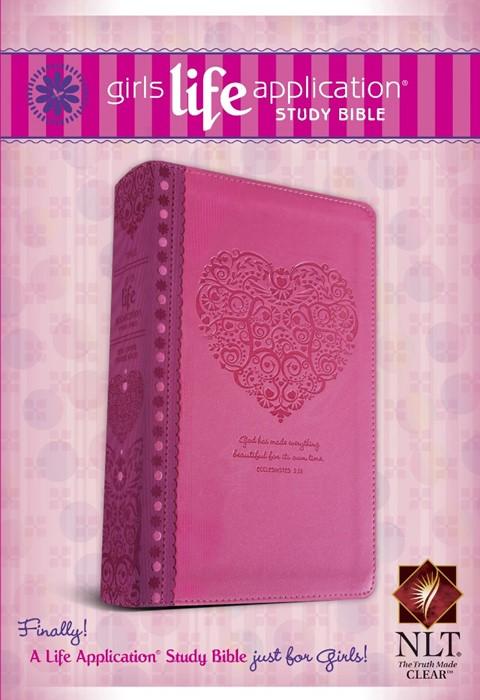 NLT Girls Life Application Study Bible Pink (Imitation Leather)