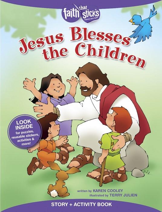 Jesus Blesses The Children. (Paperback)