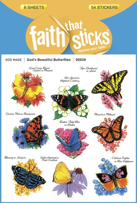 God's Beautiful Butterflies (Stickers)