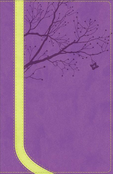 NKJV God Girl Bible, Pretty Purple/Neon Green, Tree Design D (Leather Binding)