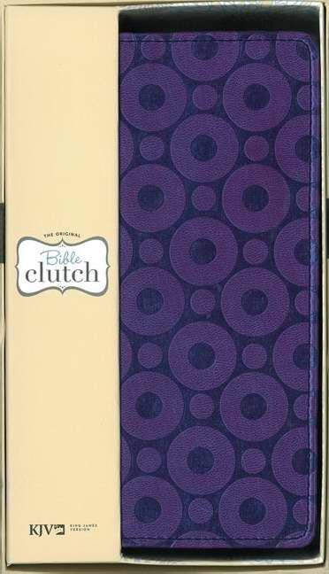 KJV Bible Clutch Duotone purple (Leather-Look)