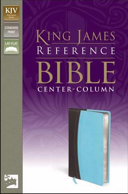 KJV Reference Bible, Brown/Blue, Red Letter Ed. (Leather-Look)