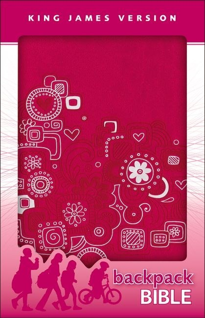 KJV Backpack Bible pink (Leather Binding)