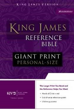 KJV Reference Bible Giant Print Indexed (Bonded Leather)