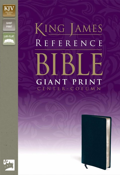 KJV Reference Bible Giant Print, Navy (Bonded Leather)
