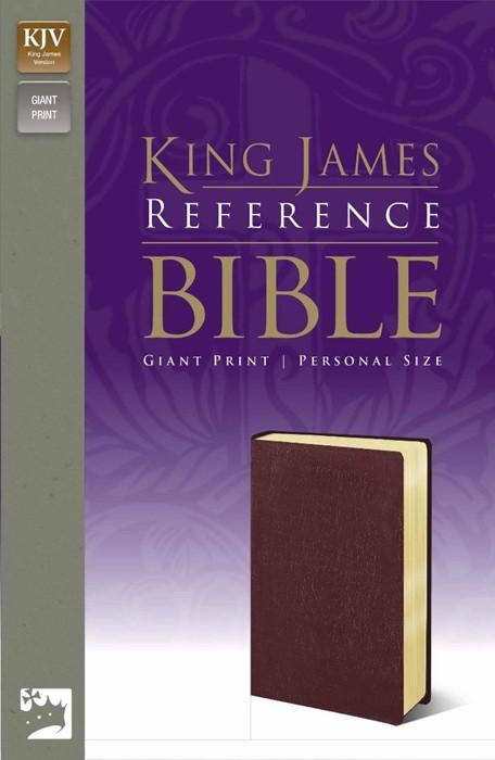 KJV Reference Bible Giant Print, Burgundy (Leather-Look)