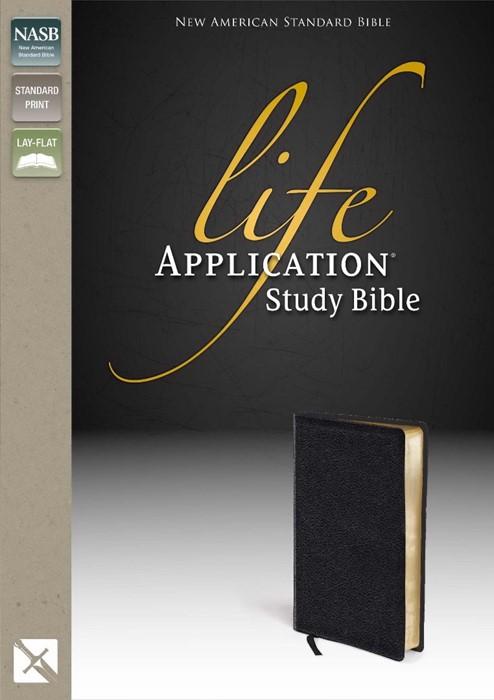 NASB Life Application Study Bible, Black (Leather Binding)