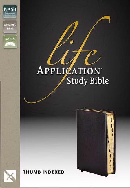 NASB Life Application Study Bible, Black, Indexed (Leather Binding)