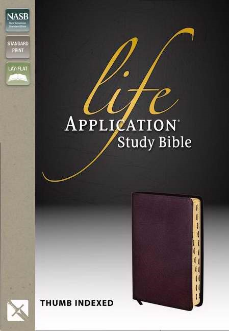 NASB Life Application Study Bible, Burgundy, Indexed (Bonded Leather)