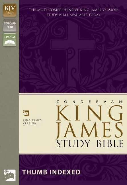 KJV Zondervan Study Bible, Black, Indexed, Red Letter Ed. (Bonded Leather)