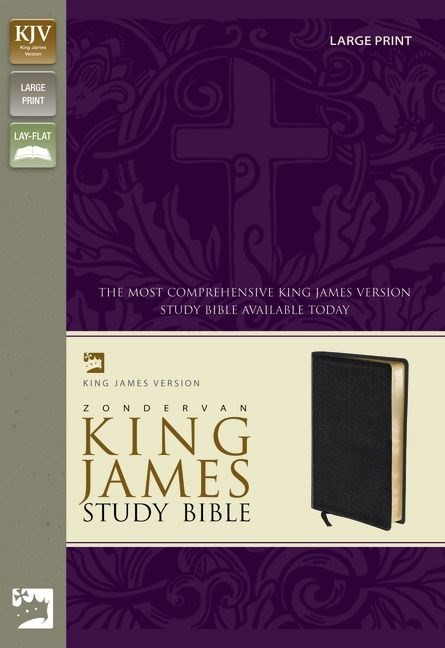 KJV Zondervan Study Bible, Large Print (Bonded Leather)