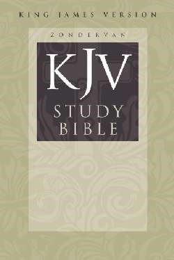 KJV Zondervan Study Bible, Large Print, Burgundy (Bonded Leather)