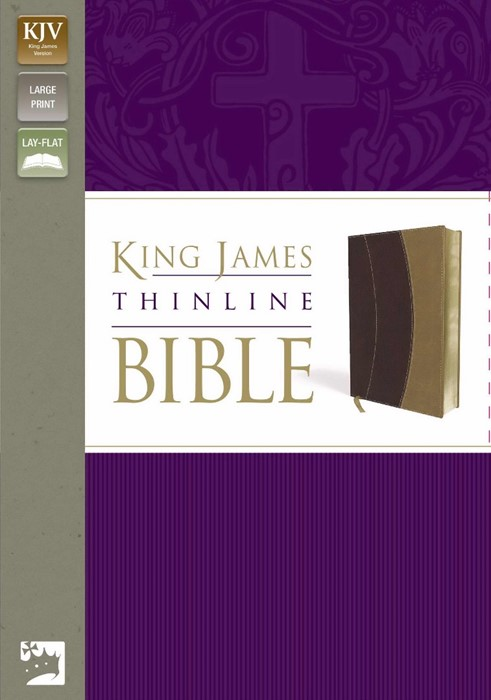 KJV Thinline Bible, Burgundy/Tan, Large Print, Red Letter Ed (Imitation Leather)