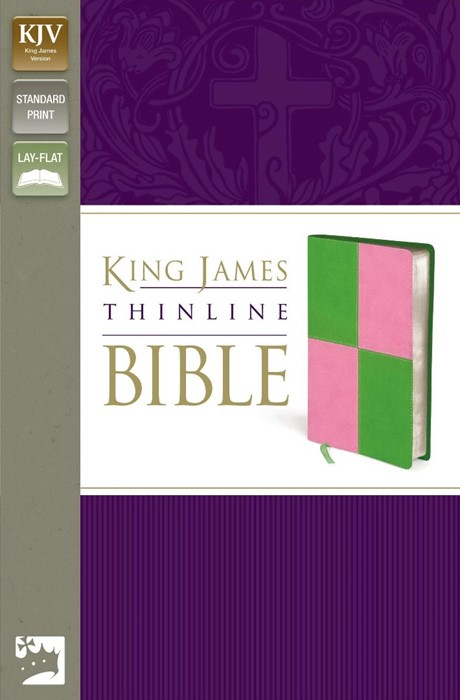 KJV Thinline Bible, Green/Pink, Red Letter Ed. (Imitation Leather)