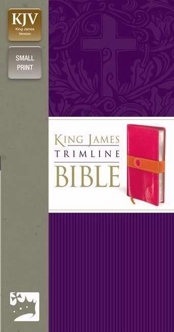 KJV Trimline Bible, Pink/Orange (Imitation Leather)