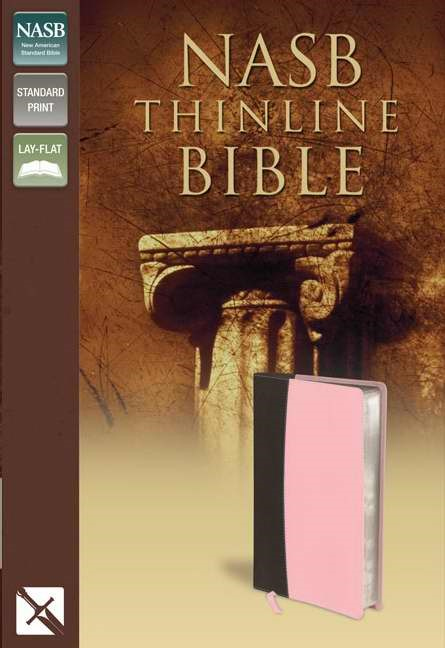 NASB Thinline Bible Pink/Brown (Imitation Leather)