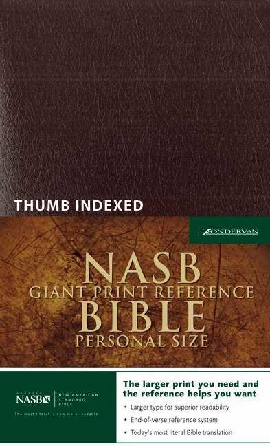 NASB Personal Size Reference Bible Giant Print Indexed (Imitation Leather)