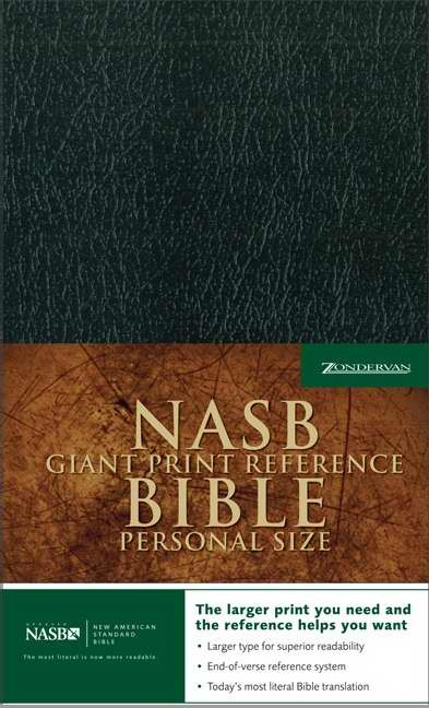 NASB Personal Size Reference Bible, Black, Giant Print (Imitation Leather)