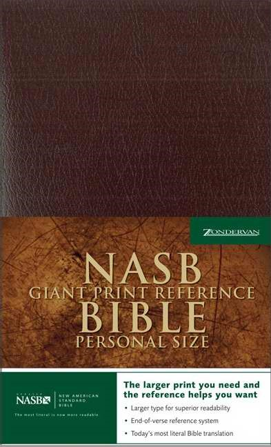 NASB Personal Size Reference Bible, Giant Print, Burgundy (Imitation Leather)