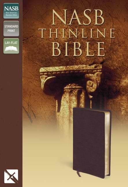 NASB Thinline Bible, Burgundy (Bonded Leather)