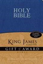 KJV Gift And Award Bible, Blue (Leather-Look)