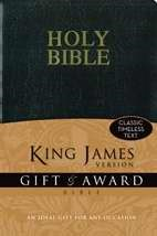 KJV Gift And Award Bible, Black (Leather-Look)