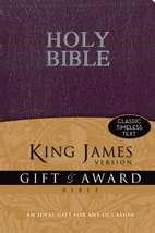 KJV Gift And Award Bible, Purple (Leather-Look)