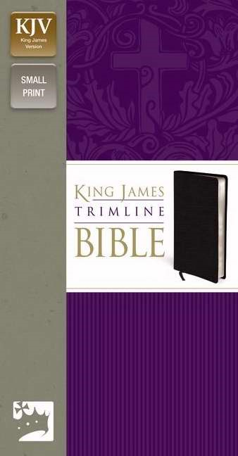 KJV Trimline Bible, Black (Bonded Leather)