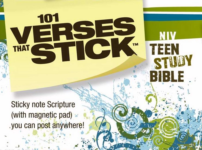 101 Verses That Stick For Teens Based On The Niv Teen Study (General Merchandise)