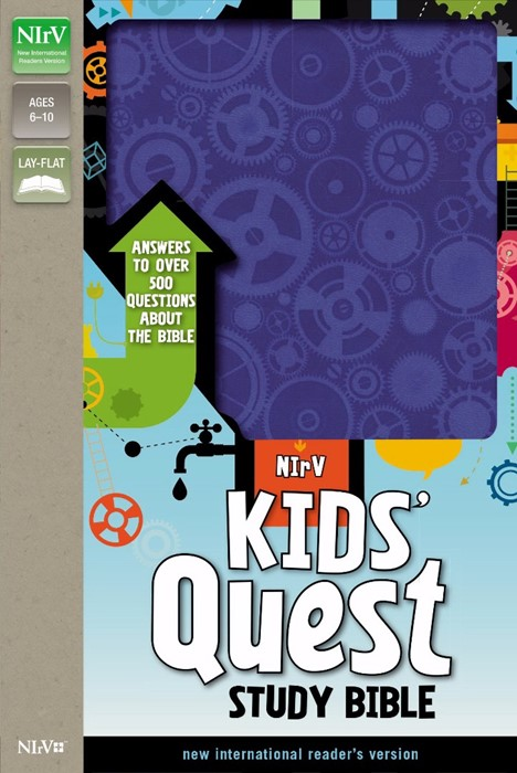 NIRV Kids' Quest Study Bible (Leather Binding)
