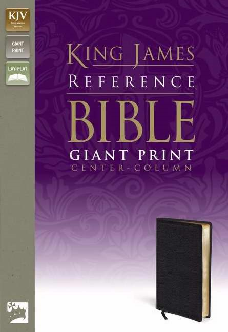 KJV Reference Bible Giant Print, Black (Bonded Leather)