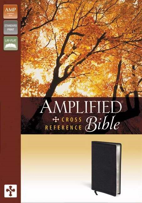 Amplified Cross-Reference Bible, Black (Imitation Leather)