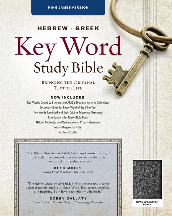 The KJV Hebrew-Greek Key Word Study Bible Black (Bonded Leather)
