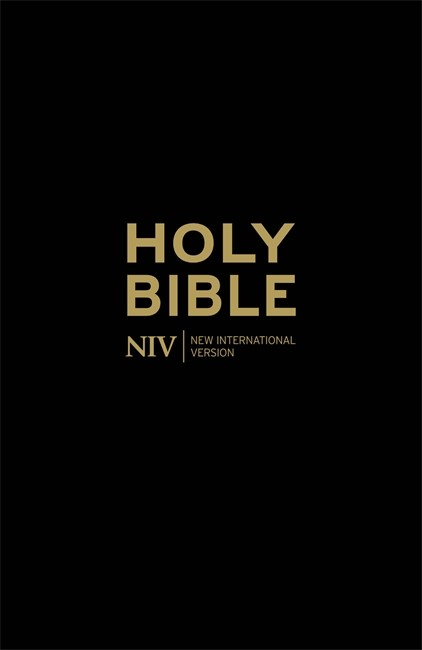 NIV Anglicised Gift And Award Bible (Black) (Paperback)