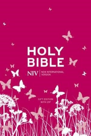 NIV Pocket Pink Soft-Tone Bible With Zip (Flexiback)