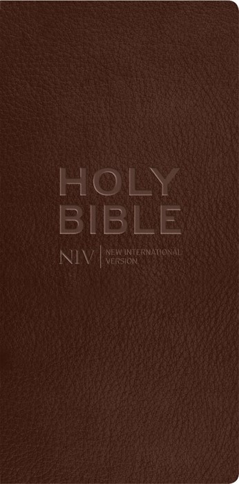 NIV Diary Chocolate Bonded Leather Bible (Hard Cover)