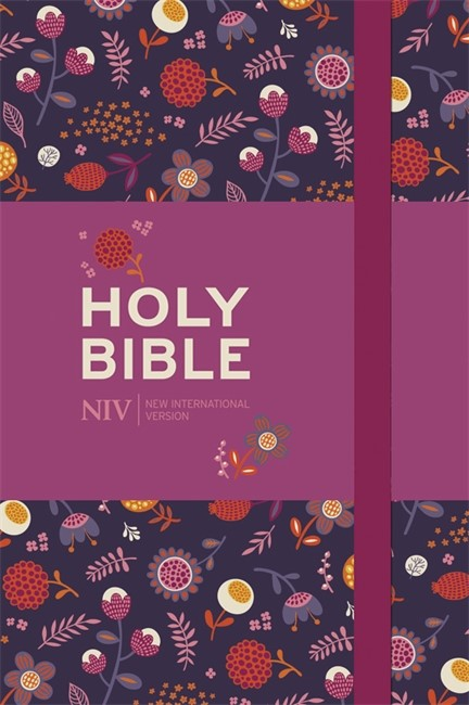 NIV Pocket Floral Notebook Bible (Hard Cover)