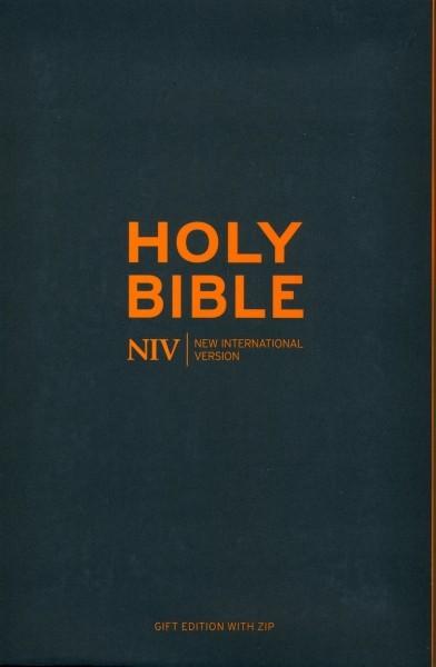NIV Pocket Charcoal Soft-Tone Bible With Zip (Flexiback)