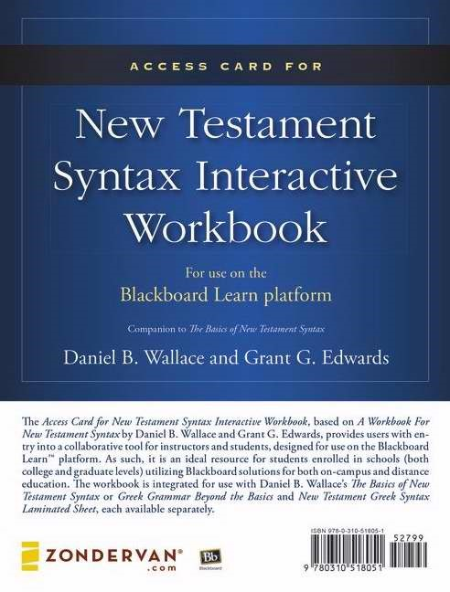 Access Card For New Testament Syntax Interactive Workbook (General Merchandise)