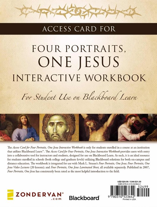 Access Card For Four Portraits, One Jesus Interactive Workbo (Paperback)