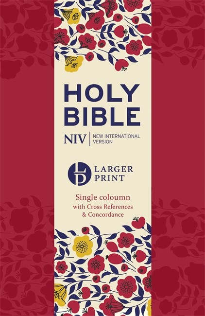 NIV Larger Print Compact Single Column Reference Bible (Flexiback)